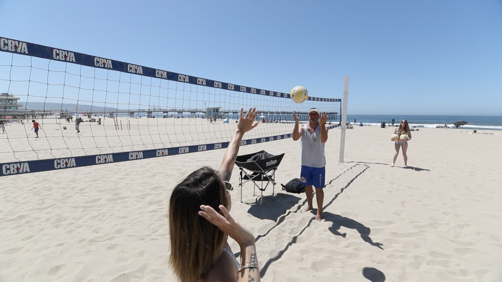 Volleyball lesson Hermosa Beach