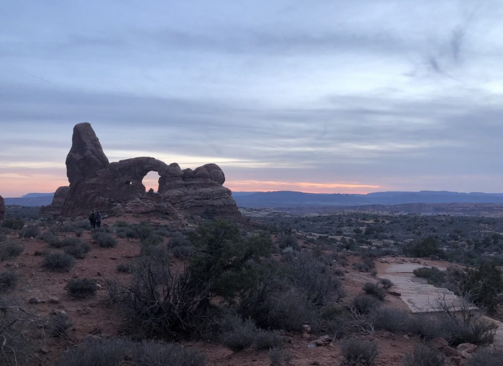 arches national park sunset