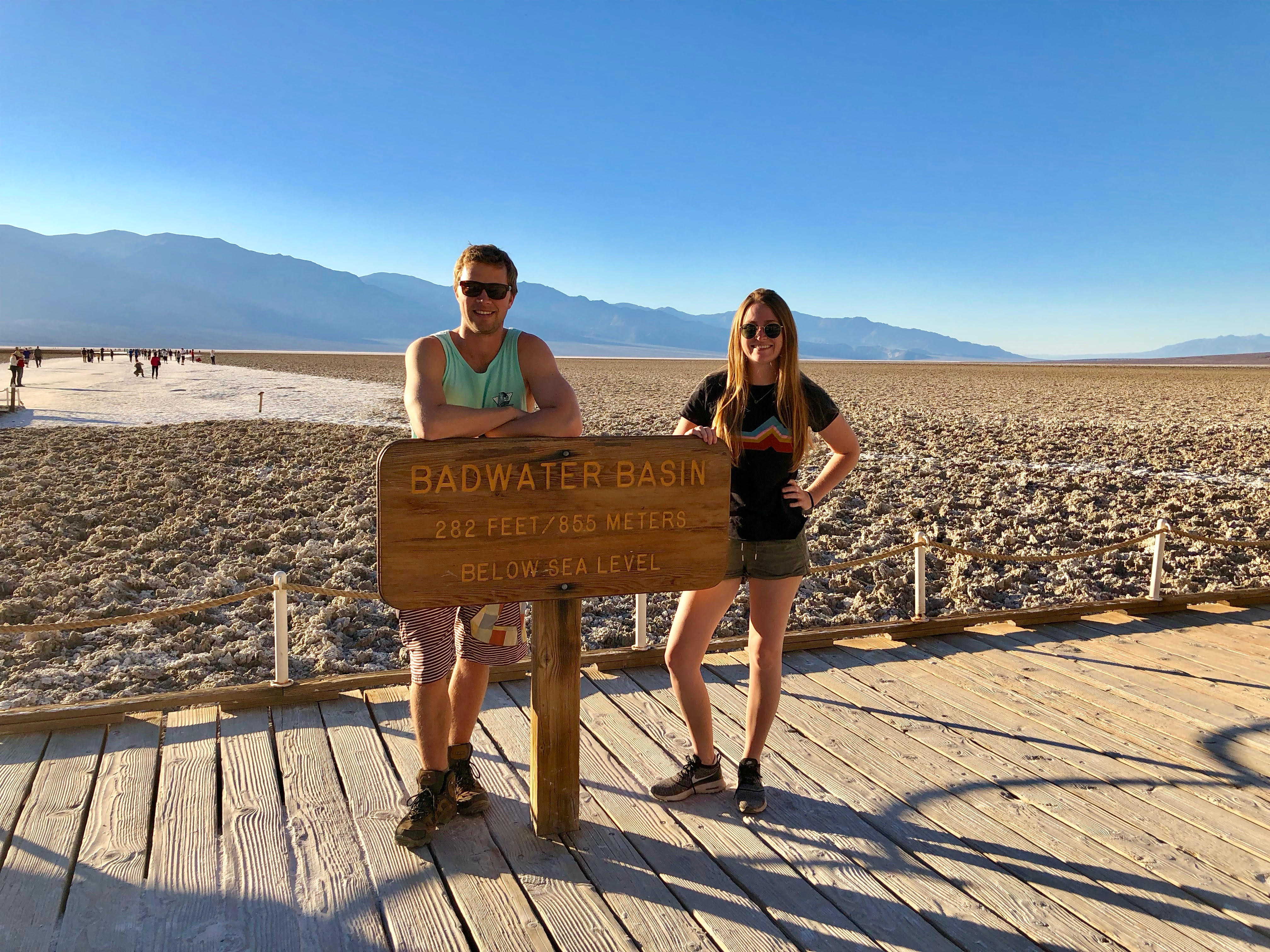 Death Valley itinerary Badwater Basin