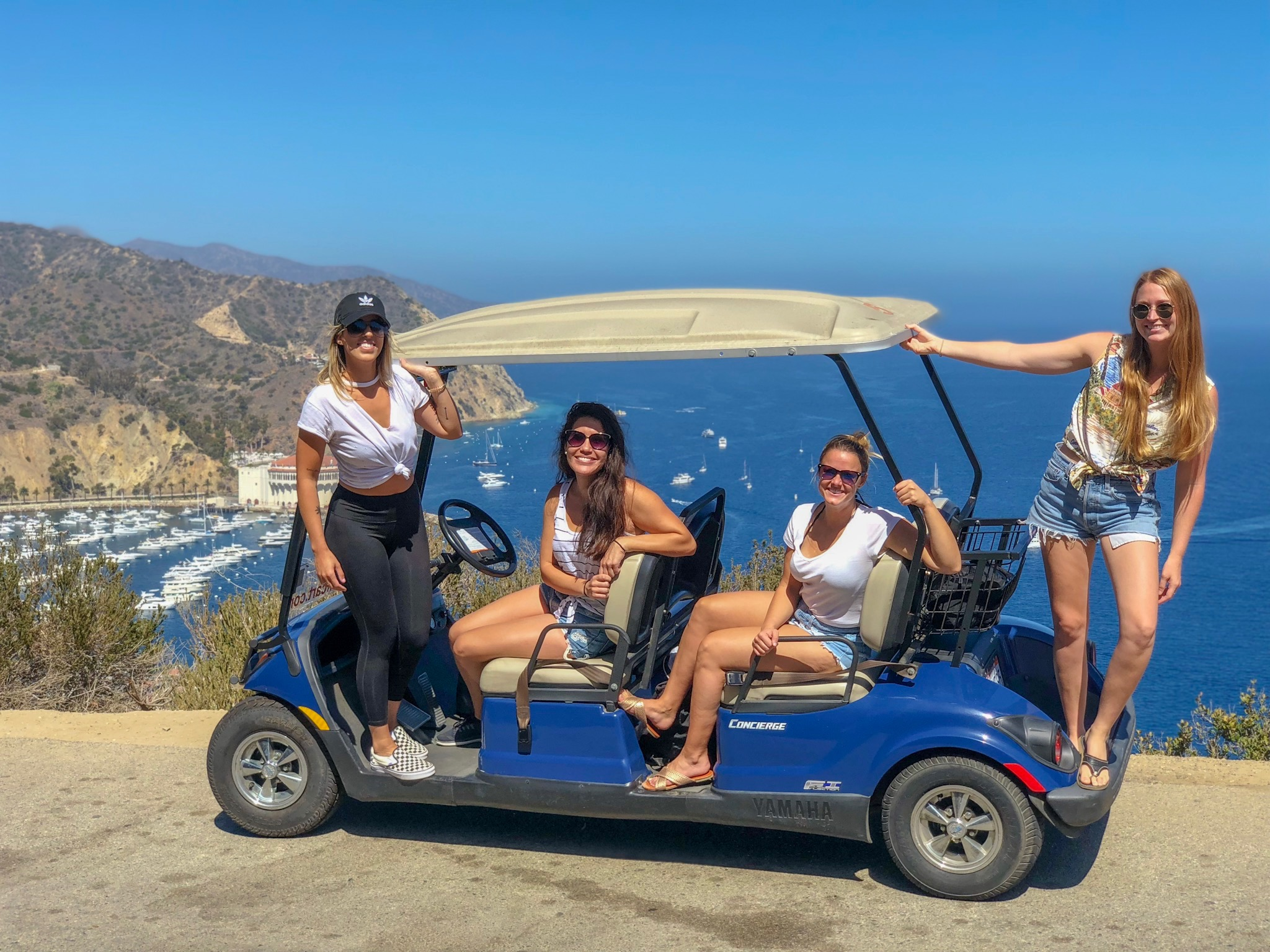 Catalina day trip golf cart