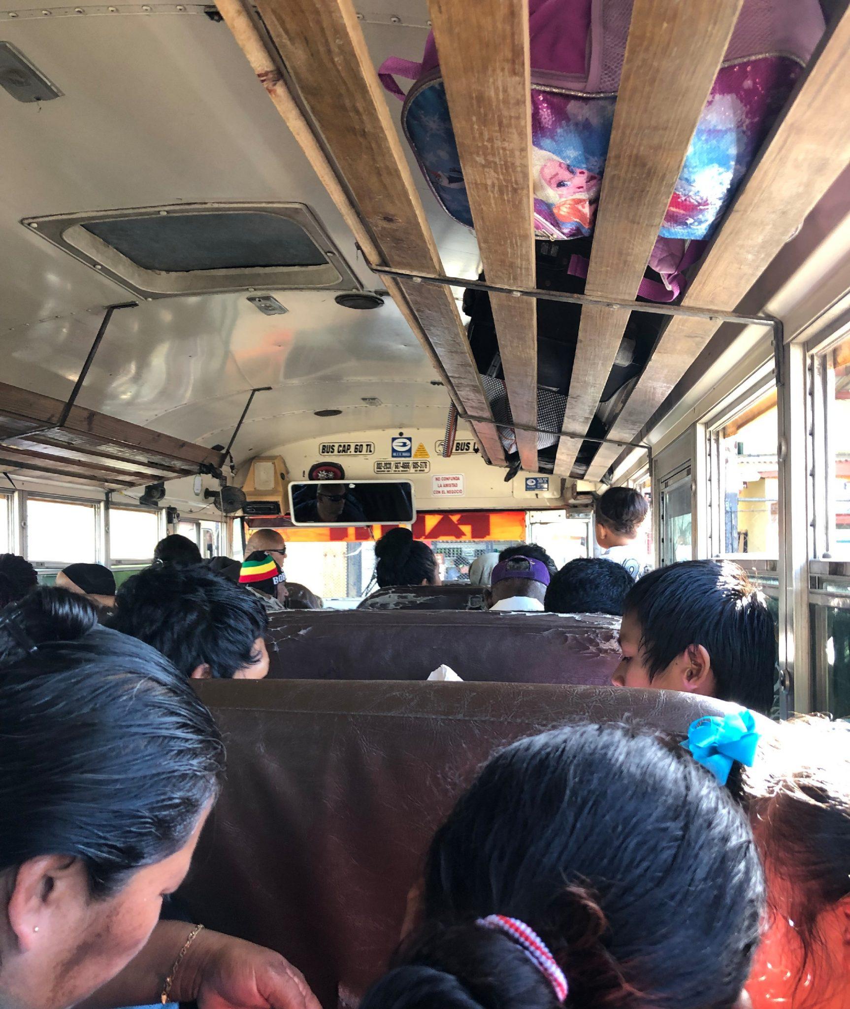 belize bus ride