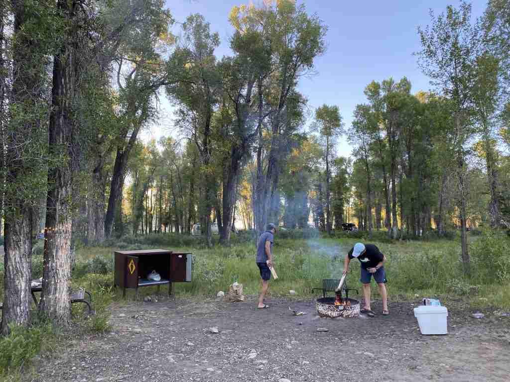 camping at grand teton