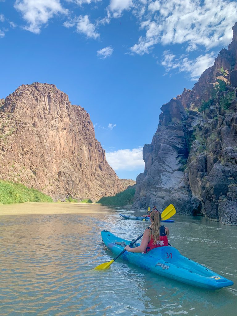 kayaking the rio grande